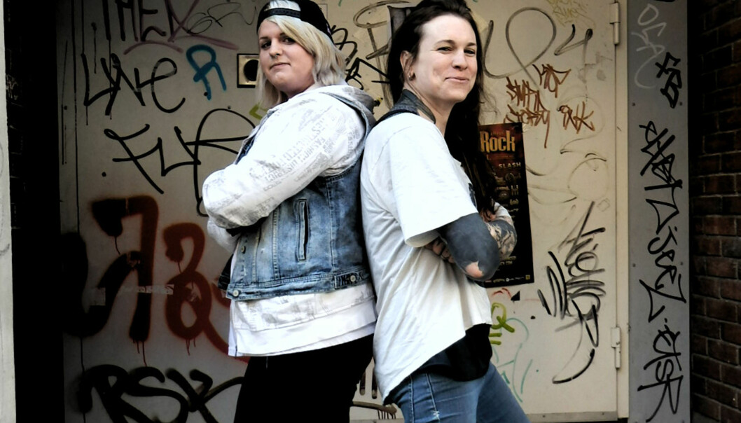 Christine Marie Jentoft og Laura Jane Grace. Foto: Reidar Engesbak.