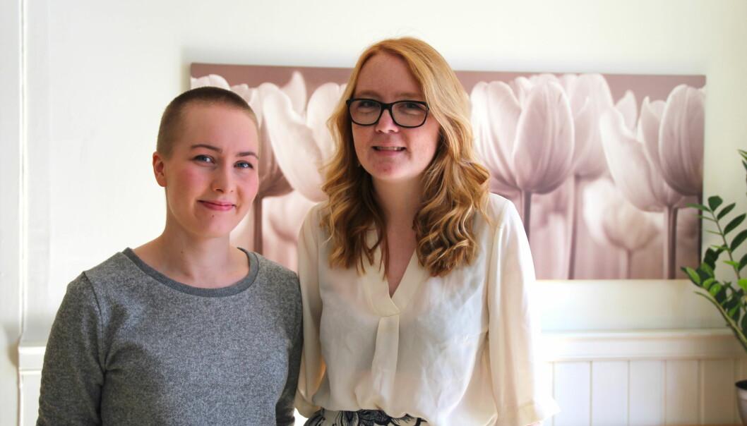 Susanne Distad Danielsen og Anette Wingereid Stulen fra Spiseforstyrrelsesforeningen.foto: Betzy A K Thangstad