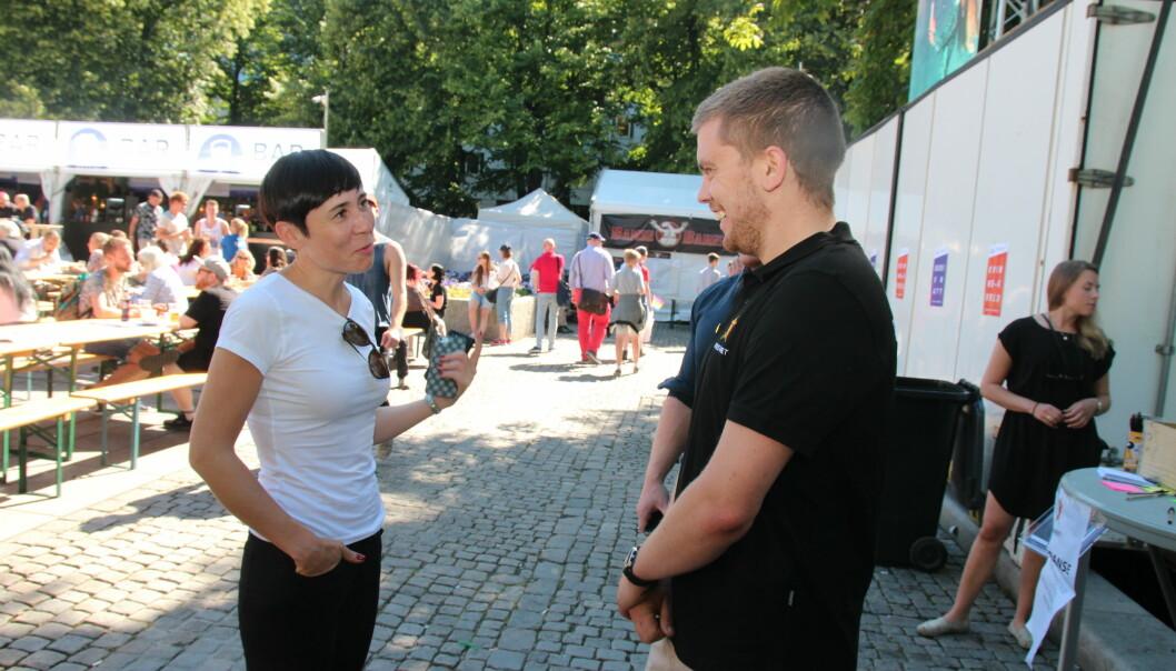 Forsvarsminister Ine Marie Søreide Eriksen og prosjektleder Tom-Daniel Laugerud (foto: Betzy A K Thangstad)