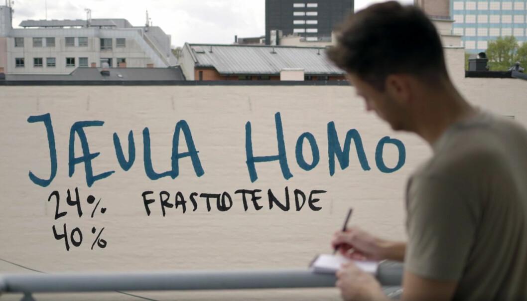 Skjermdump fra «Jævla homo». Foto: NRK.