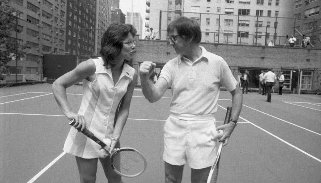 Billie Jean King og Bobby Riggs. Foto: Bettmann/Bettmann Archive.