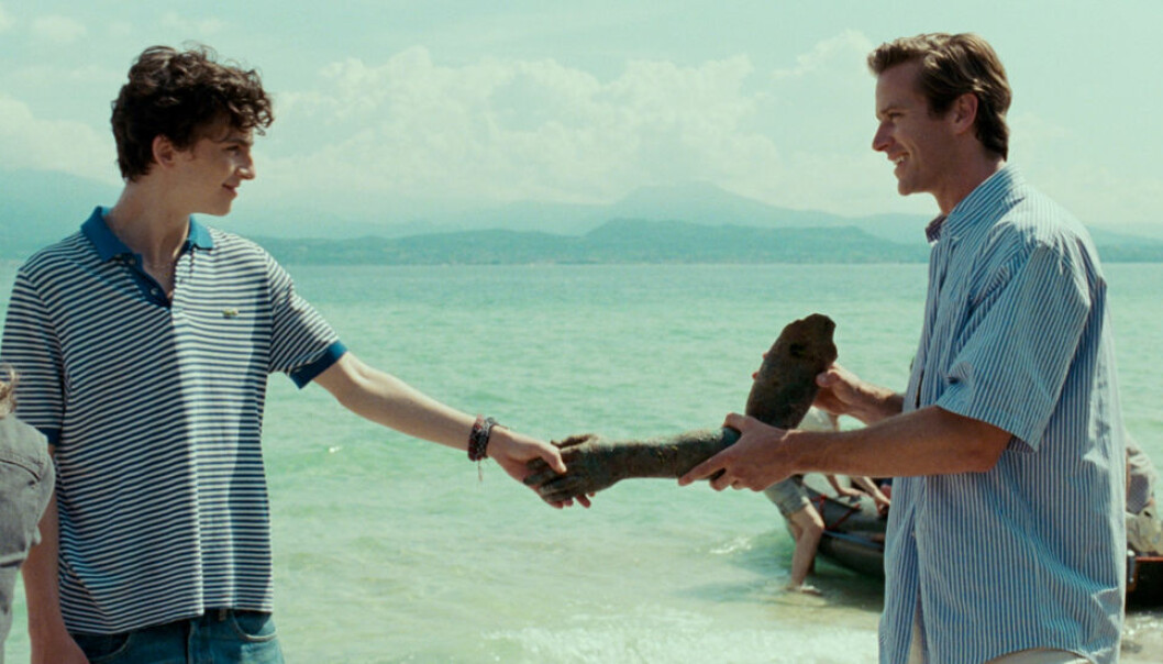 Timothée Chalamet og Armie Hammer i «Call Me By Your Name». Foto: Frenesy Film Co/Sony/Kobal/REX/Shutterstock/NTB/Scanpix.