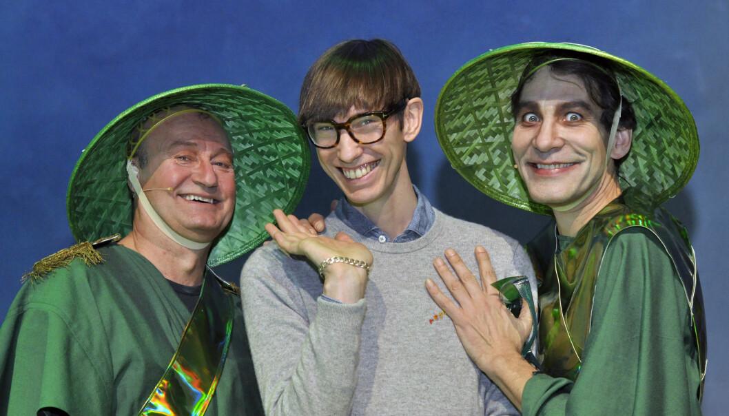 Jørn Morstad, Alan Lucien Øyen og Stig Werner Moe. Foto: Reidar Engesbak.