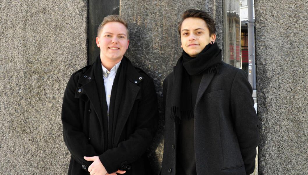 (f.v.) Thomas Westervoll Hansen og Noah Lindaas. Foto: Reidar Engesbak.