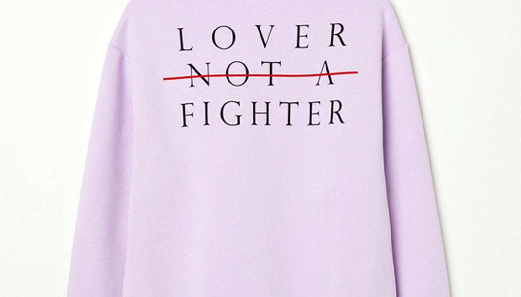 Lover Not A Fighter hettegenser fra H&M. Foto: H&M.