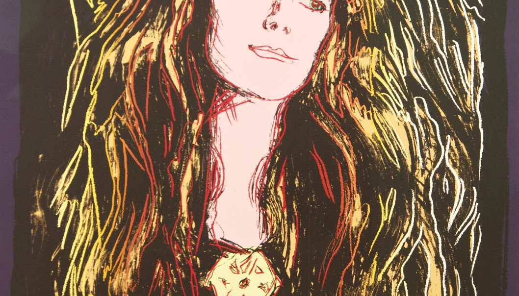 Andy Warhol. Eva Mudocci - after Munch