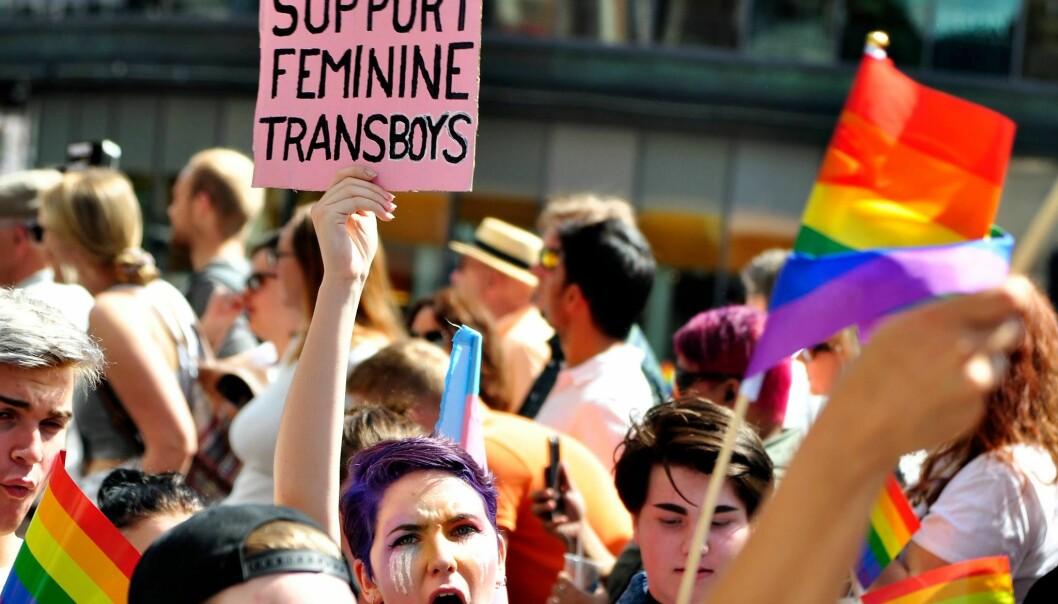 Fra paraden under Oslo Pride 2017. Foto: Reidar Engesbak.