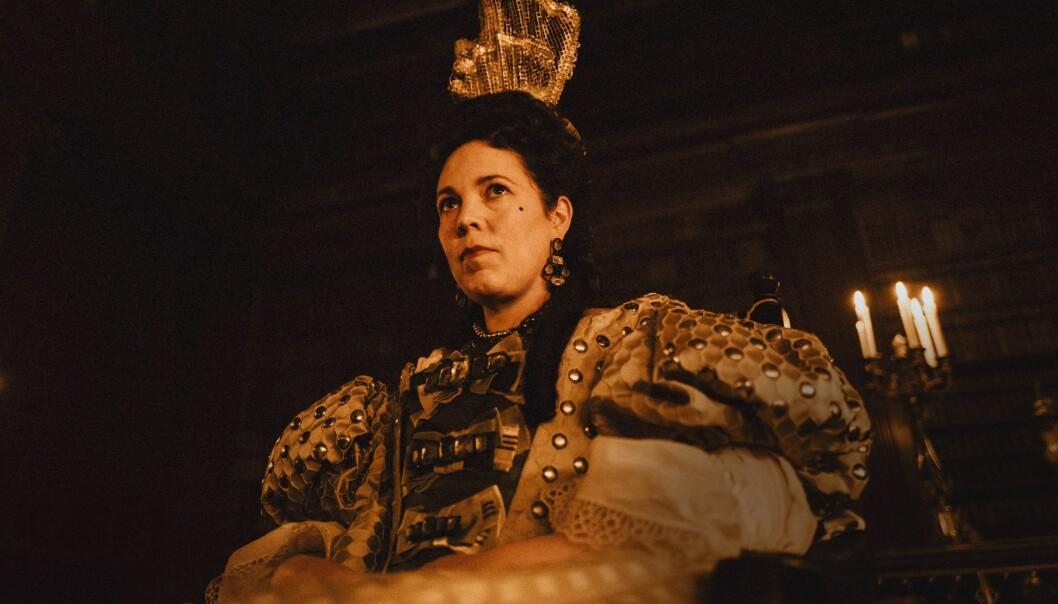 Olivia Colman som dronning Anne. Foto: Twentieth Century Fox Film.