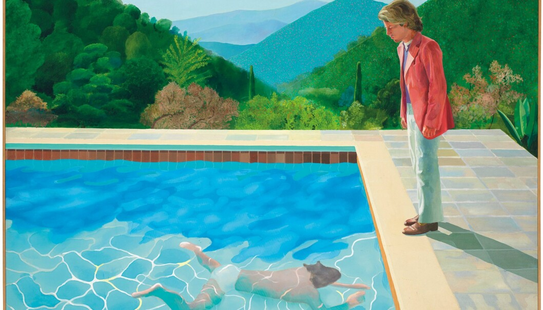 «Portrait of an Artist (Pool with Two Figures)» malt av David Hockney.