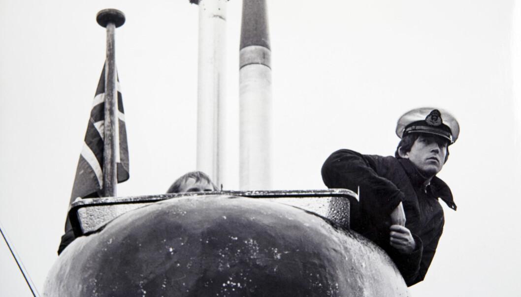 Da Jeanette skulle gjøre mann av seg, passet det perfekt å bli ubåtkaptein. Foto: Privat.