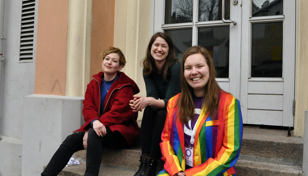 f.v. Marte Mesna, Madeleine Metz og Marthe Øvrum. Foto: Reidar Engesbak.