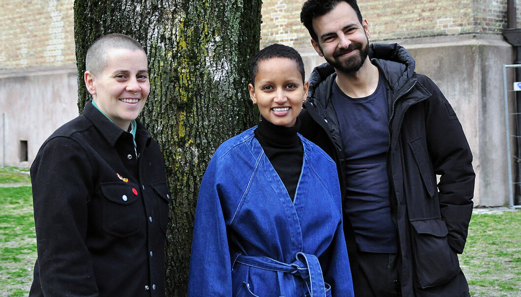 f.v. Susanne Demou Øvergaard, Maruwa Kerella og Joseph Mardelli. Foto: Reidar Engesbak.