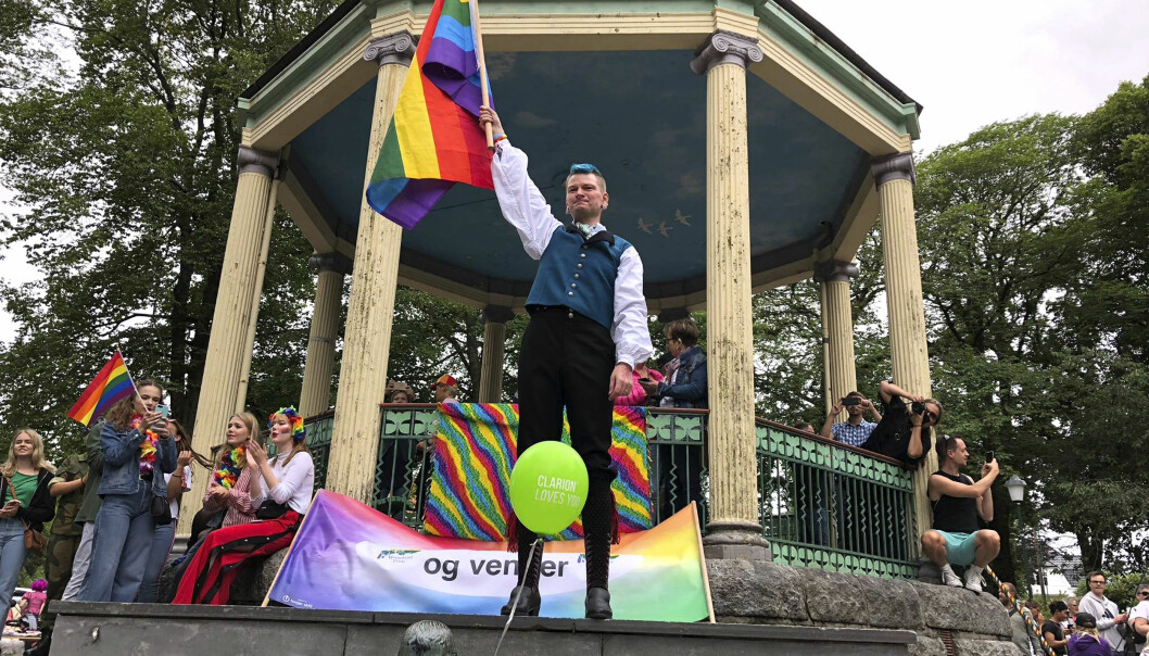 Heming Welde Thorbjørnsen under Haugalandet Pride. Foto: Ina B. Teigland.