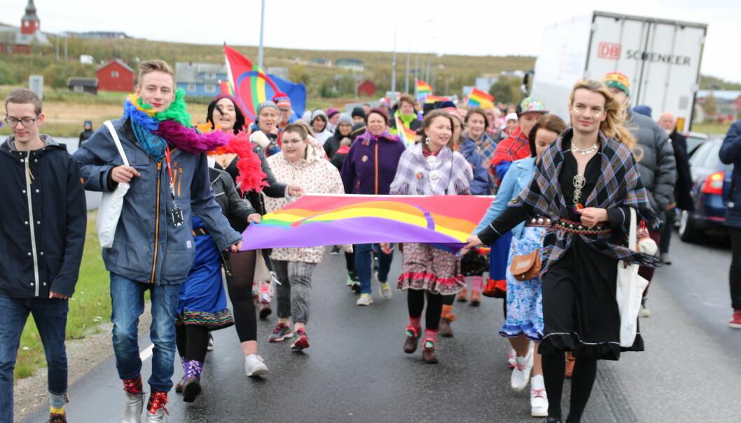 Sapmi Pride 2016. Foto: Daniel Lynau.