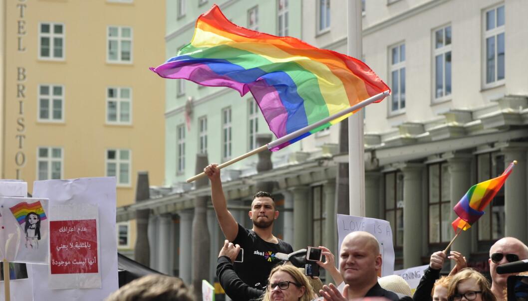 Fra Regnbuedagene i Bergen. Foto: Reidar Engesbak.