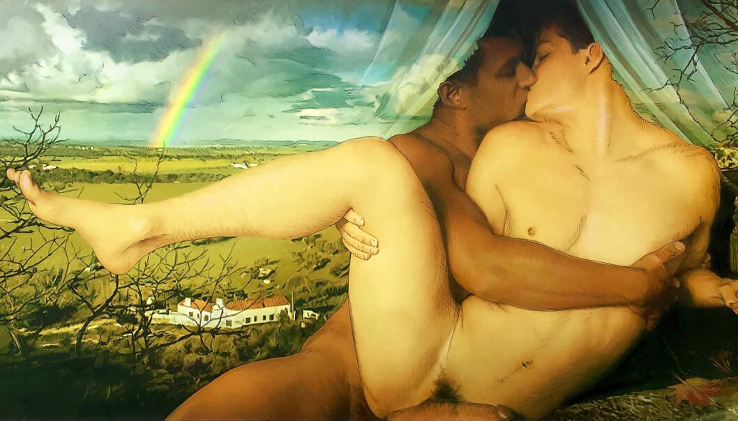 Daniel J. Skråmestø «Rainbow» ser du på Pride Arts utstilling i Pride House.