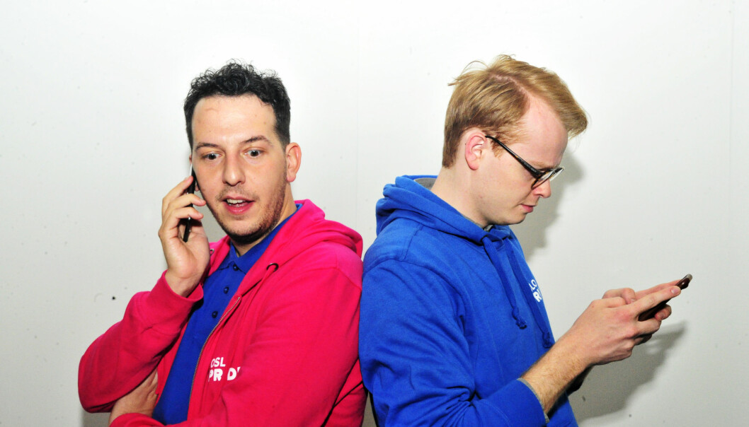 Yonas Bennour og Fredrik Dreyer. Foto: Reidar Engesbak.