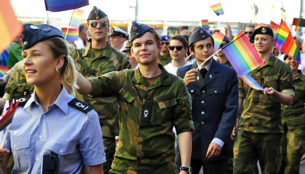 Forsvaret i Oslo Pride-paraden i 2018. Foto: Reidar Engesbak.