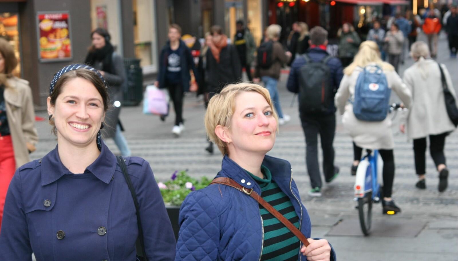 Madeleine Gedde Metz og Marte Mesna. Foto: Randi N. A. Bakke.