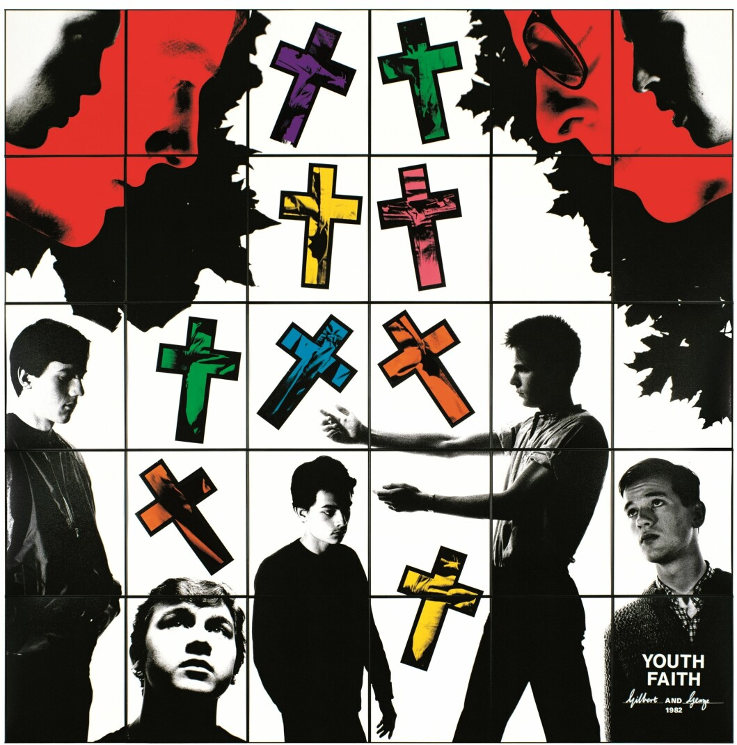 Gilbert & George «Youth Faith» (1982).