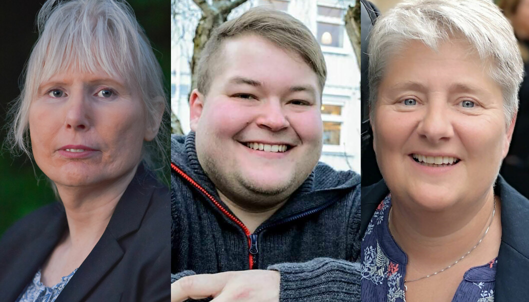 (f.v.) Tone Maria Hansen, daglig leder i HBRS, Benjamin Solvang, styreleder i HBRS og Sonja Nilsen, leder i HBRS-foreldreforening.