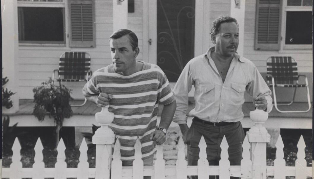 Tennessee Williams (t.h.) og partneren Frank Merlo som han traff i 1948, ferierte i dramatikerens hus i homsefristedet Key West.