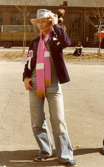 Claus i aksjonsgruppa Soperligaen på 70-tallet.