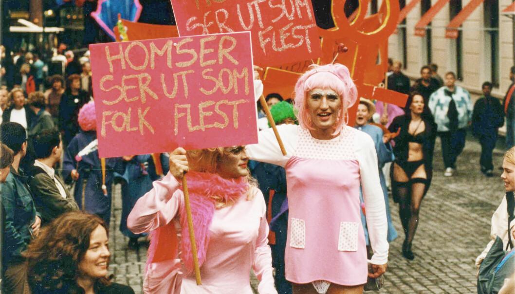 1999: Vidar Graven (t.h.) og Ståle Vandvik fikk paradeprisen for innslaget sitt.
