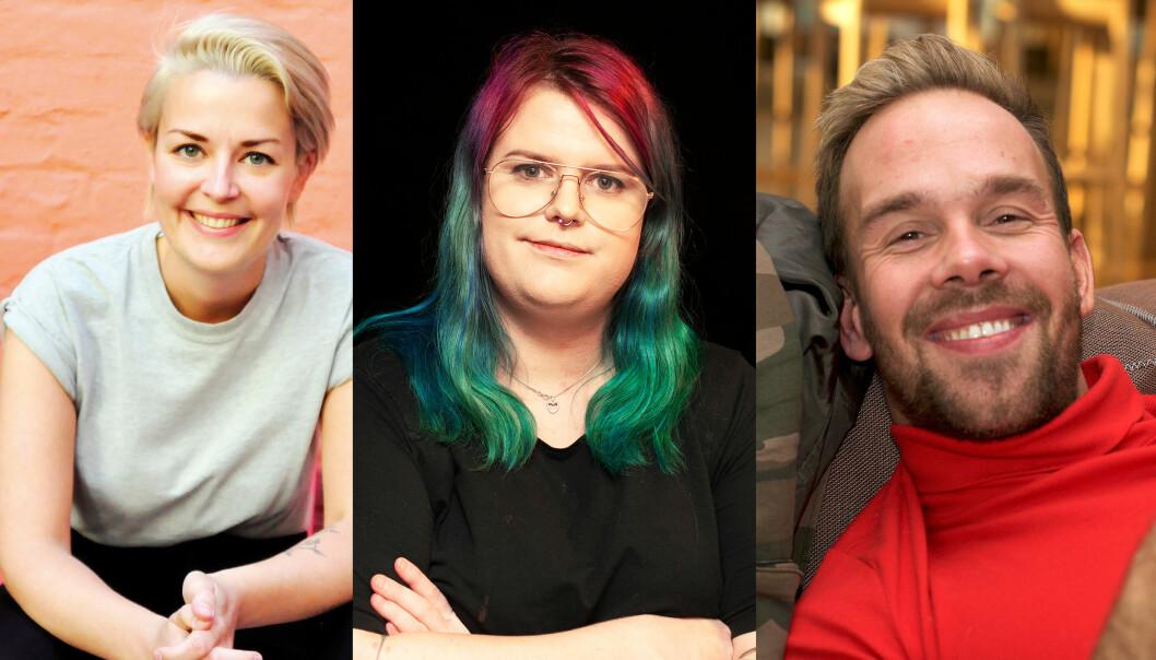 f.v. Ingvild Endestad, Christine Marie Jentoft og Morten Hegseth Riiber.