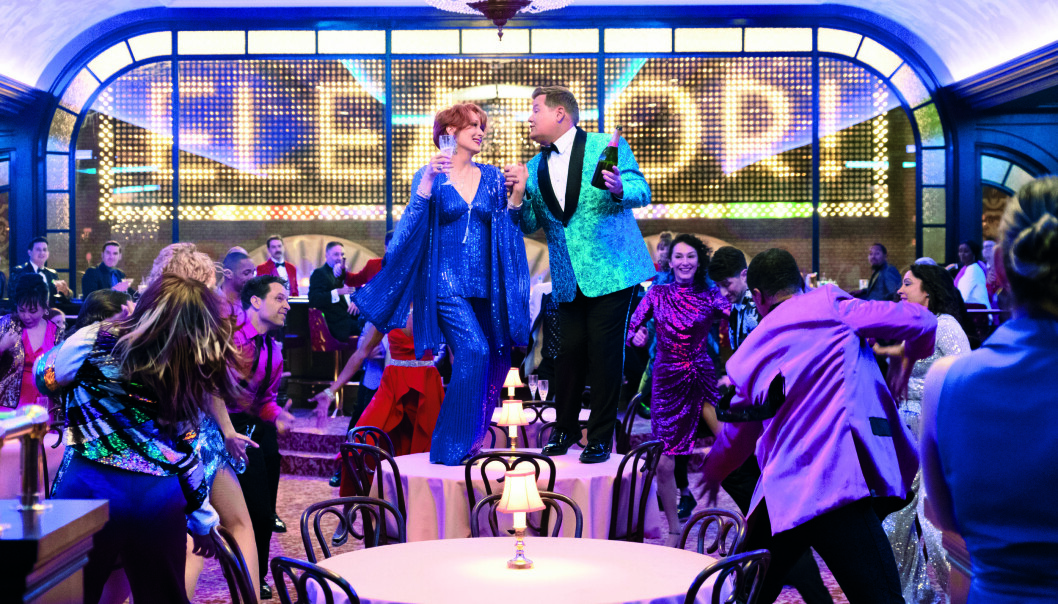 «The Prom» (f.v.) Meryl Streep som Dee Dee Allen, James Corden som Barry Glickman.