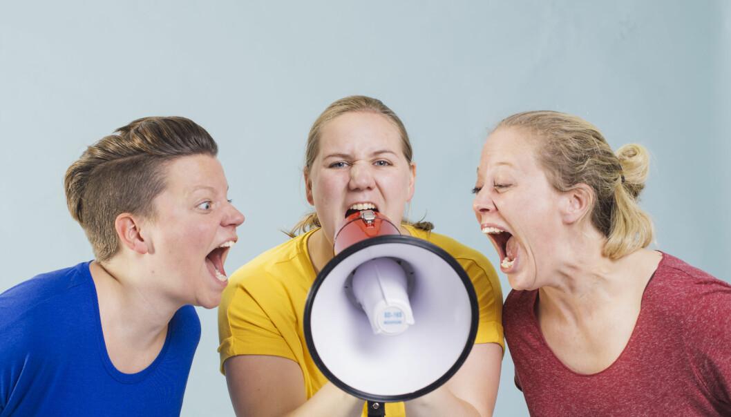 Julie Falkevik Tungevåg, Ellen Brekken og Elisabeth Mørland Nesset.
