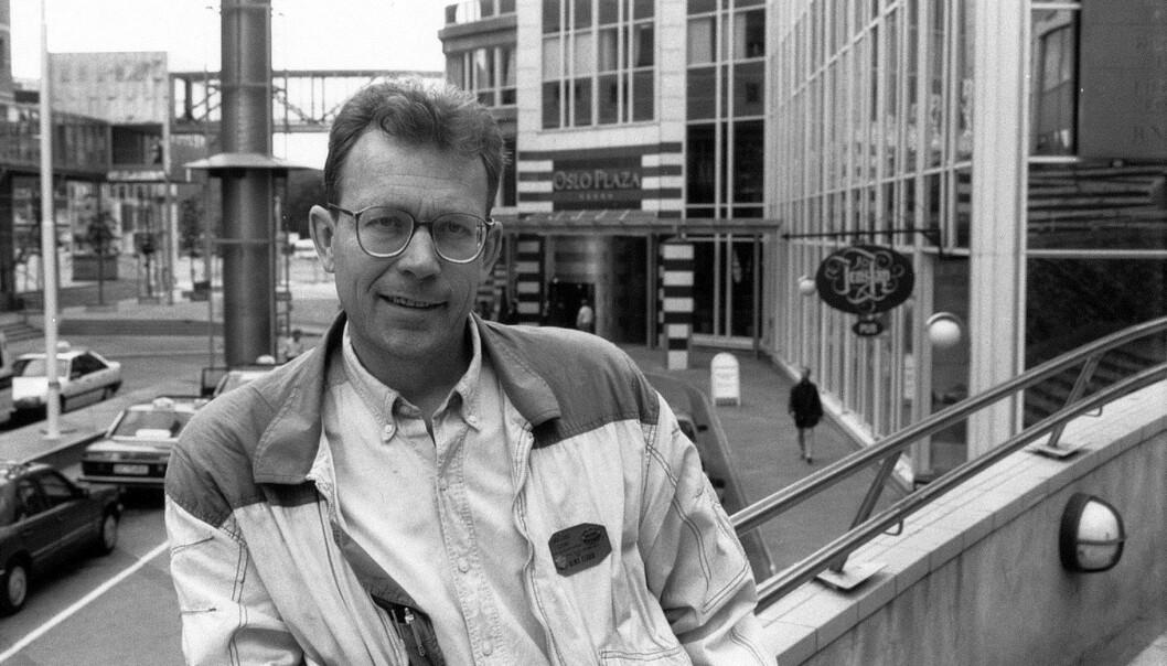 """<span class="""" italic"""" data-lab-italic_desktop=""""italic"""">Arne Walderhaug har dekket alt fra Gay Games i Sør-Afrika og Mardi Gras-feiringer i Sydney til politiske protester i Albania. Her er en han som fersk Blikk-redaktør i juni 1991. </span>"""
