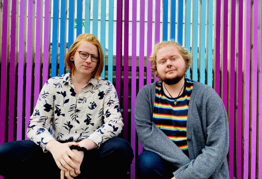 (f.v.) Odd Thomassen, leder i Skeiv Ungdom og Robin Leander Wullum, politisk nestleder i Skeiv Ungdom.