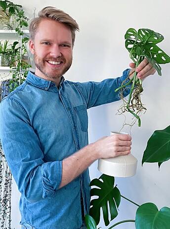 Under første lockdown kjedet ekteparet seg fryktelig. – Så mens andre lærte seg å lage surdeigsbrød, tok vi bilder av plantene våre og postet dem på Instagram, forteller Andreas.