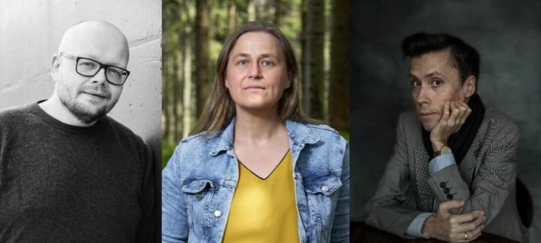 f.v. Bjørn Hatterud, Olaug Nilssen og Jan Grue .