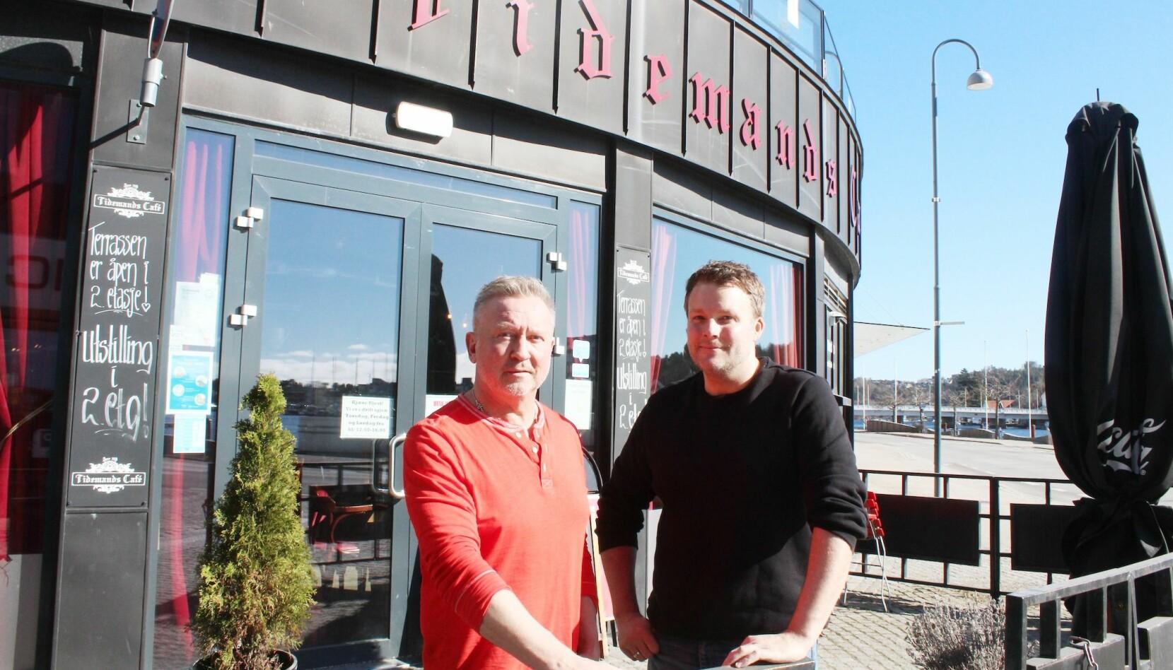 Bent Sandvand og Jimmi Neiiendam har drevet fire serveringssteder sammen på Sørlandet, og har også invitert på Skeiv Café i restauranten sin i Mandal, som ble en suksess.