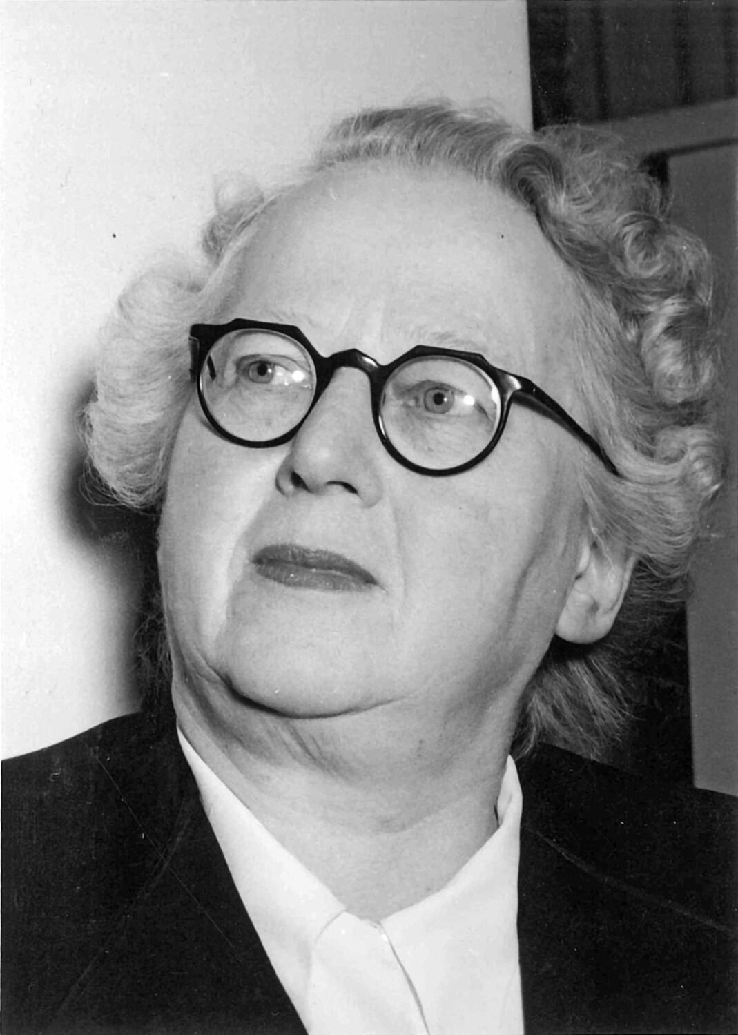 Pauline Hall. Portrett fra ca. 1953.