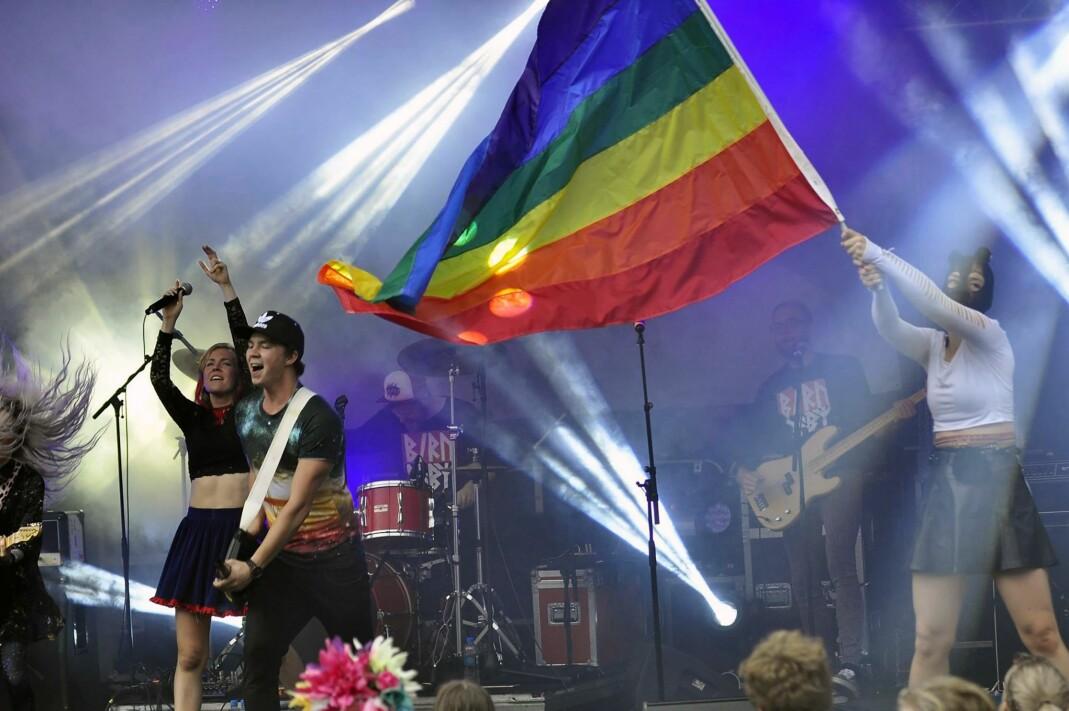 Biru Baby tok Pride Park med storm i 2016.