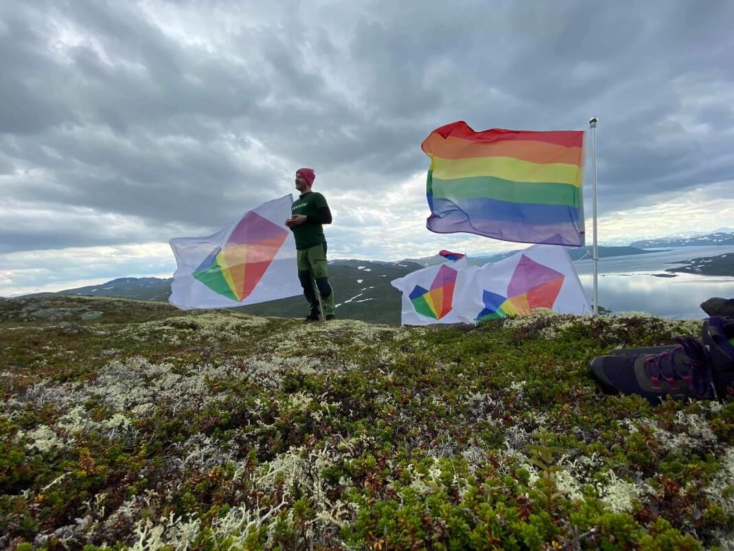 Under fjorårets festival tok Vinje Pride med seg pridefargene til toppen av Torshammeren.