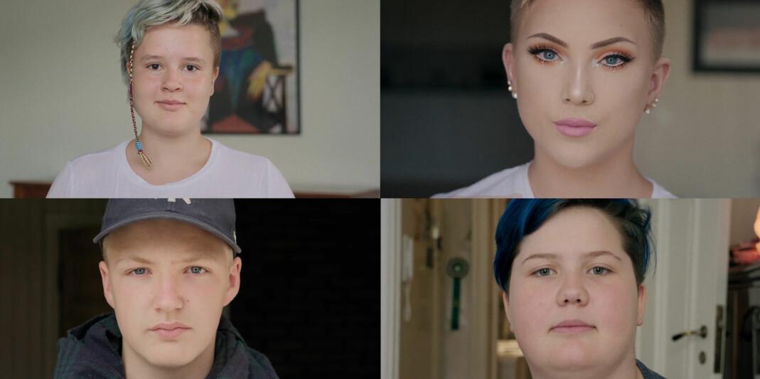 I dokumentarfilmen «Hei verden» forteller Runa (12), Viktor (12), Dina (13) og Joachim (14) sine historier om det å være ung og skeiv.