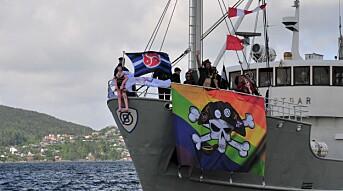 Strålende prideparade til sjøs
