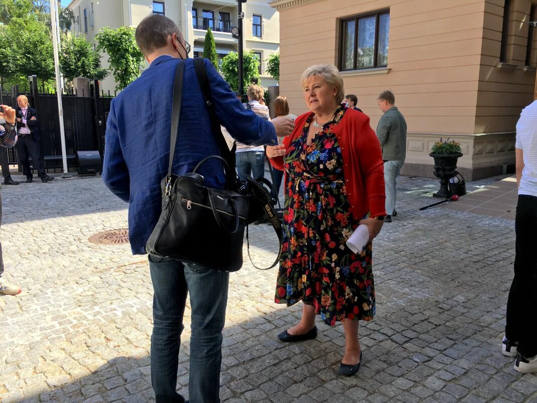 Dette er et viktig og stort steg i riktig retning, sa statsminister Erna Solberg under dagens pressekonferanse.