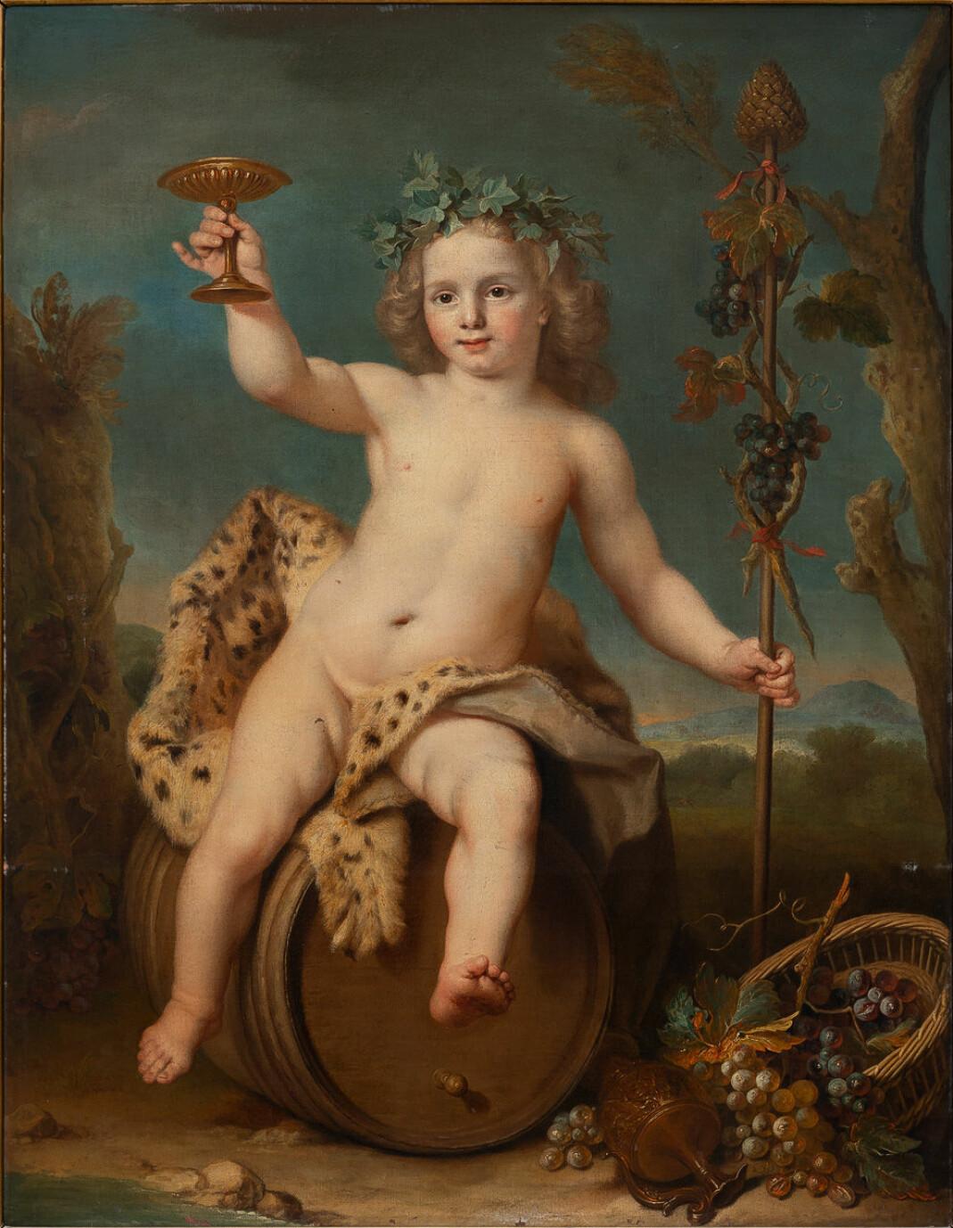 Maleriet «Bacchus som barn» (ukjent kunstner).