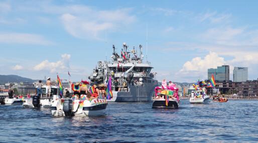 Prideparade på Oslofjorden