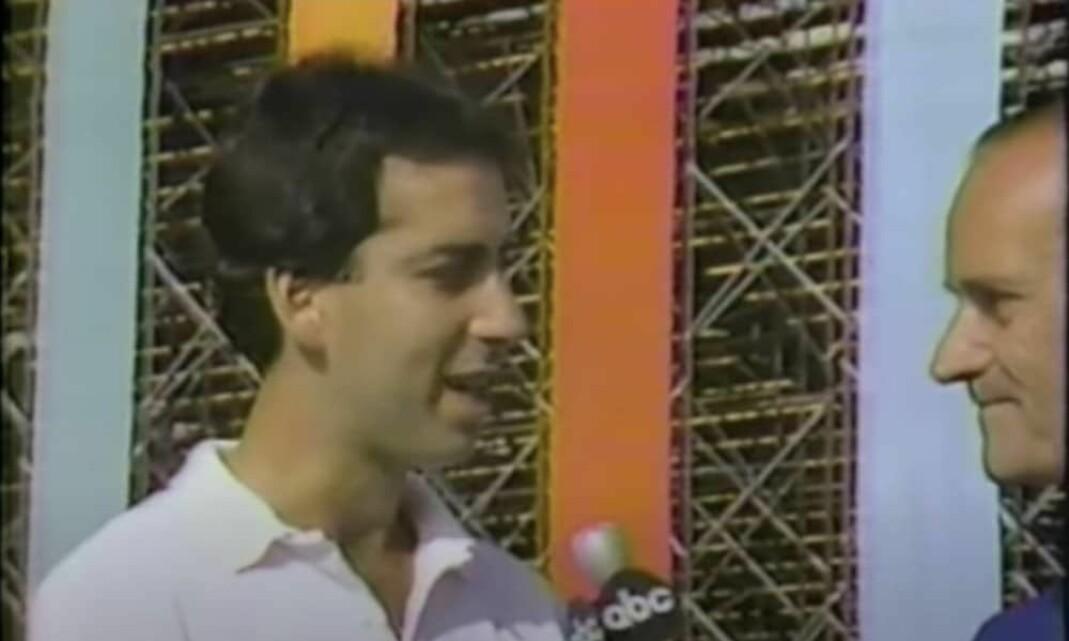 Robert Dover intervjues i forkant av OL i Los Angeles i 1984.
