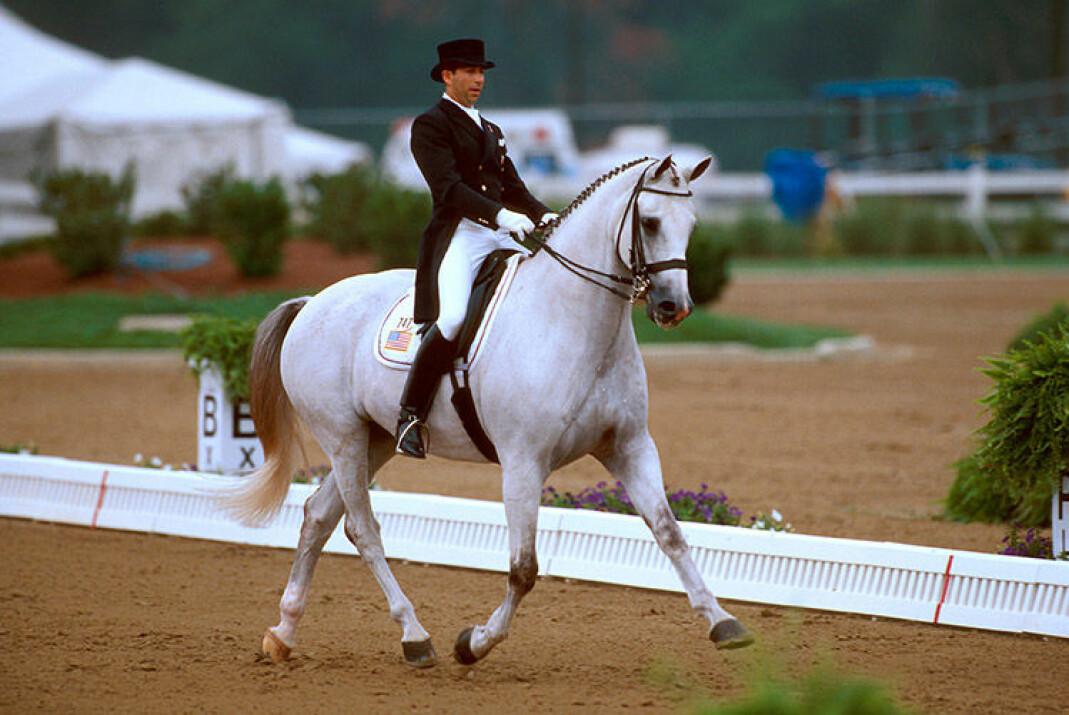 Robert Dover tok bronsjemedalje med hesten Metallic under de Olympiske leker i Atlanta i 1996.