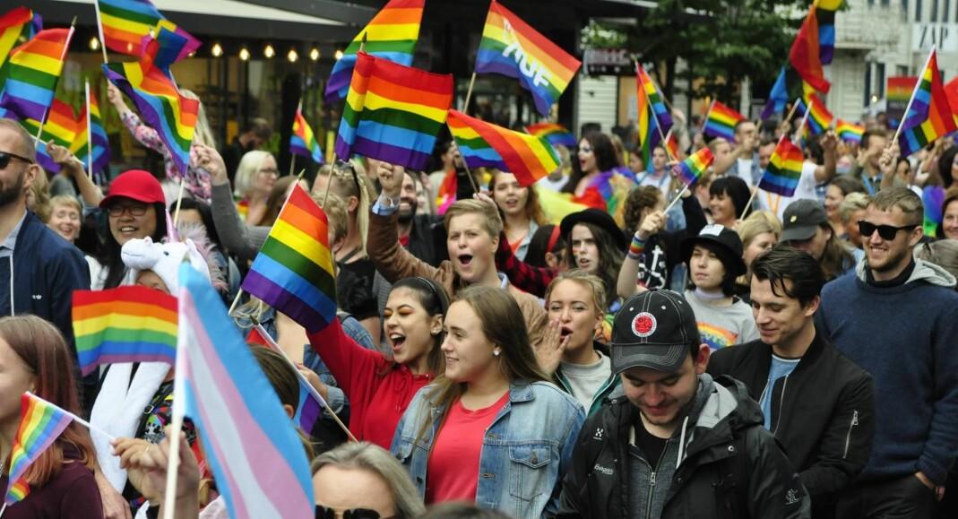 I paraden under Skeive Sørlandsdager i 2017 deltok mer enn 4000 mennesker.