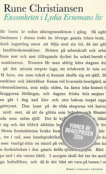 Romanen følger Lydia som har vokst opp som eneste barn på et småbruk nord i Jämtland. Hun utdanner seg til veterinær og flytter til et lite tettsted i Norge.Lydia vinner respekt for sin iherdighet, men det som om hun er prisgitt ensomheten.
