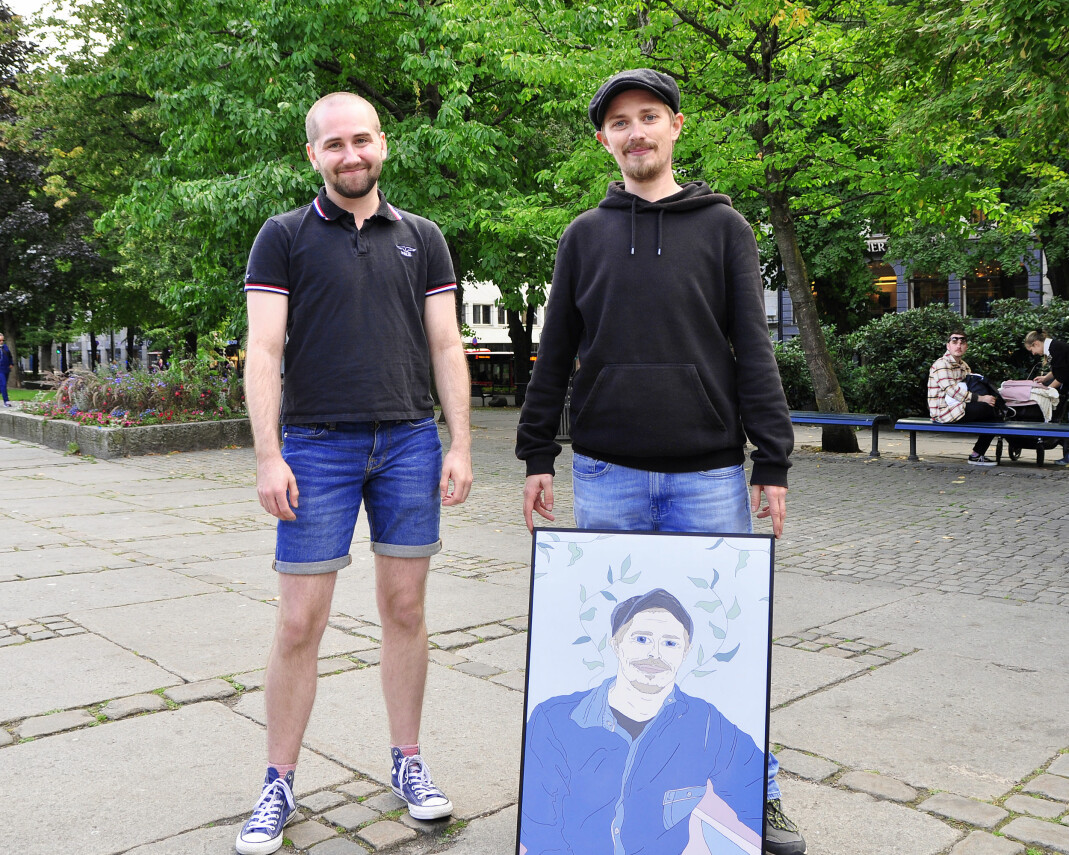 PKI-leder Aleksander Sørlie og vinner av årets Esben Esther-pris, Tobias.